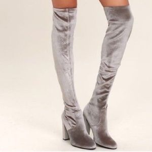 Steve Madden Stretch Velvet Over the Knee Boots